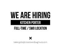 Full-Time Bakery Kitchen Porter. Working Evenings. SW8 Location