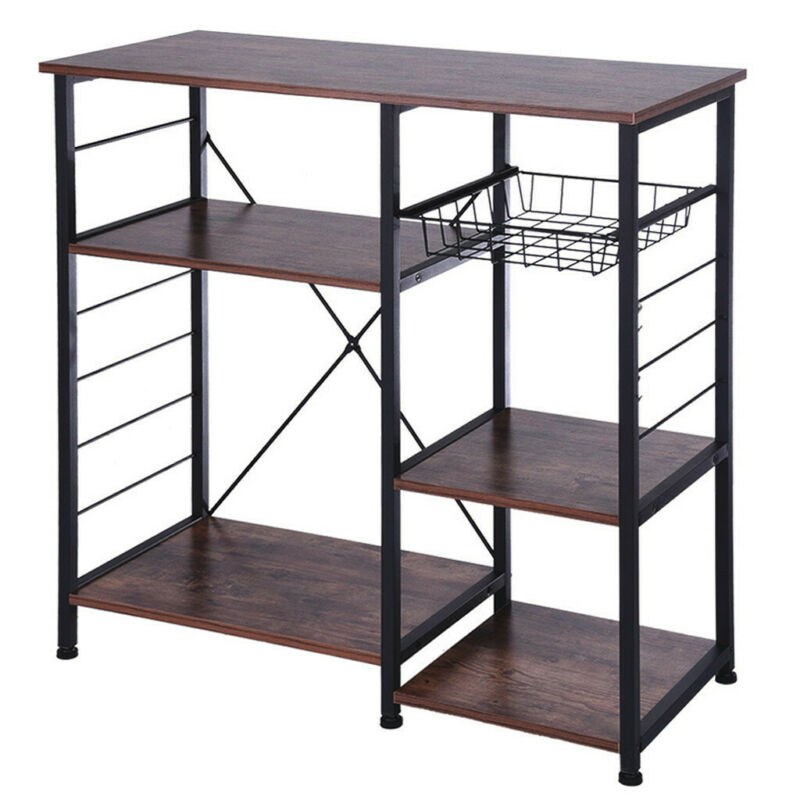 3/4-Tier Kitchen Baker'S Rack Utility Microwave Oven Stand S