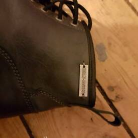New Harley Davidson grey/black boots
