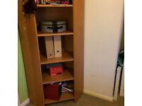 Bookshelf corner (vintage) Ikea bookcase in good condition, medium warm brown in colour.