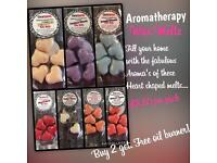 Handmade Aromatherapy Heart shaped Wax Melts. Highly scented. Gift Set. Buy 2 get a free burner!