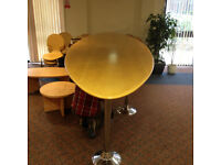 Free Standing - Large Surf Board Design Table & 3 x Chrome Legs