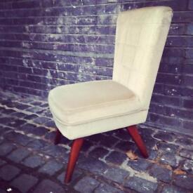 Vintage 1960s low lounge cocktail chair teak legs mid century retro