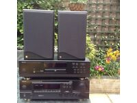 Denon Hi-Fi System with KEF CODA 7 Speakers and Speaker Stands