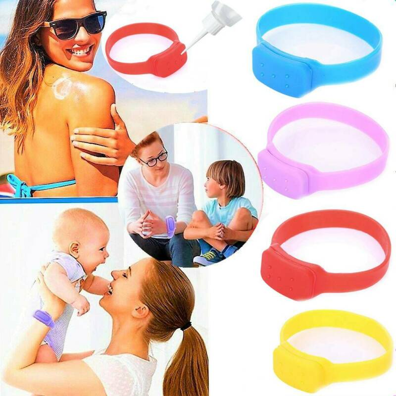 Silicone Soap Bracelet Wristband Hand Dispenser Portable Ban