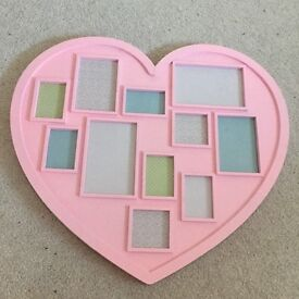 Pink heart photo frame picture decoration home - only £2!!!