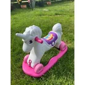 Unicorn rocker and ride on