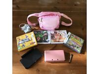 Pink Nintendo 3DS in excellent like new condition. Complete with charger, stylus, 4 games and bag.
