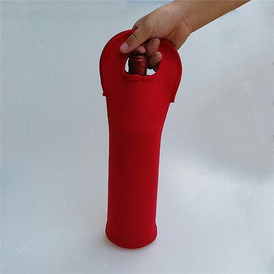 Red Wine Single Bottle Neoprene Carrier Cooler Tote Bag Insulated Bag Red Bottle Neoprene Wine Tote Bag
