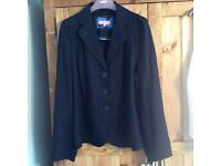 Marks & spencers per una jacket. Navy blue. Fitted. Long sleeve. Linen mix. Size 14. Ex condition.