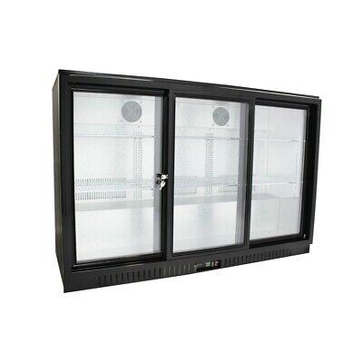 Procool 54 Wide Sliding 3-door Glass Back Bar Beverage Cooler - Counter Height