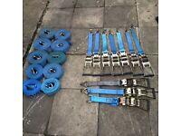 Heavy duty ratchets & straps x10