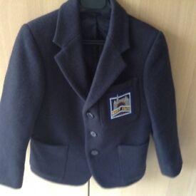 Boys BEAU BRUMMEL pure wool NAVY blazer Size 2 Chest 61cm