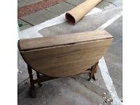 Antique Gate Leg Table Solid Oak