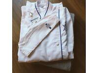 Le Corden Bleu Chef White Top, Checkered Trouser and Cap - Size: M
