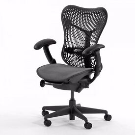 HERMAN MILLER MIRRA TASK CHAIRS - HIGH QUALITY EXECUTIVE MESH ERGONOMIC ORTHOPEDIC OFFICE SEATING