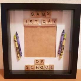 Handmade Personalised 1st Day of School/Nursery Frames!!!