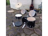 Parts of drum kit and stool