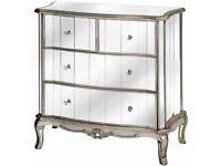 QUICK SALE DEAL - Argente Mirrored Two Over Two Chest of Drawers