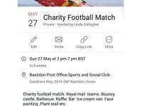 Charity football match on may 27th BH Sun