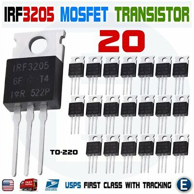 20pcs Irf3205 Ir Mosfet N-channel 55v110a To-220 Hexfet Power Transistor Irf
