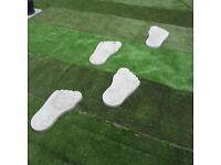 8 big foot stepping stones