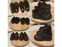 Two pairs of clarks boys school shoes 9f