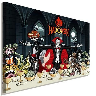 Happy Halloween Holiday Vampir Leinwandbild AK Art Bilder Wanddeko Wandbild XXL