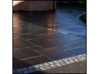 Kotah Black Limestone Paving, 22mm Calibrated, 900x600mm, 17.28m² Pack £325 FREE NATIONWIDE DELIVERY