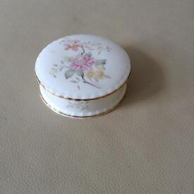 Vintage Royal Doulton bone china trinket box.