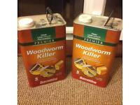 2 x 5l Woodworm Killer solvent based. Wood treatment