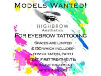 Eyebrow Models required for portfolio building