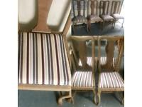 4x queen Ann oak dining/kitchen chairs*restored price each