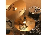 **EXCELLENT CONDITION BLACK PEARL EXPORT KIT WITH SABIAN CYMBALS!**