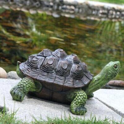 Outdoor Garden Ornament Box Turtle Statue Resin Craft Creative Decor - Decorative Turtle Gift Box