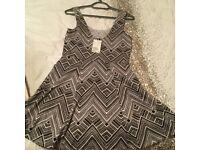 Brand new H&M black and white summer dress