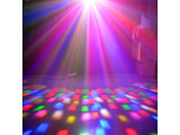 Multi Colour Mirror Ball LED Beams Dance Club DJ Stage Kids Party Moving Lighting Boxed School Show