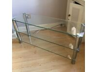 Large Glass 3 Shelf TV Stand - £20