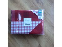 Next red/white checked kingsize duvet covers x2 new