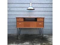 A Beautiful G-Plan Style Tv Stand or Sideboard With Hairpin Legs Danish Teak MidCentury Modern