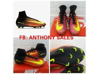 MERCURIAL SUPERFLY FG CR7 FOOTBALL BOOTS RONALDO MESSI ADULTS KIDS