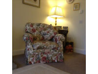 Sanderson 3 Piece Suite - 3 Seater Sofa and Two Armchairs - Immaculate Condition