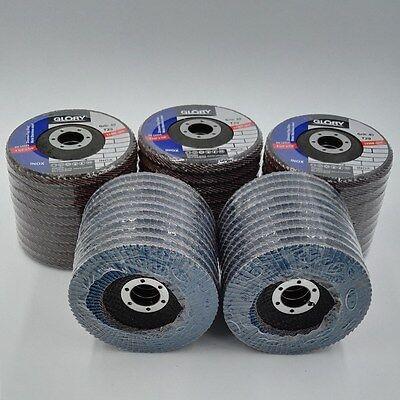 Pack 50 Premium Zirconia Flap Disc Sanding Grinding 4-12 X 78 40 Grit