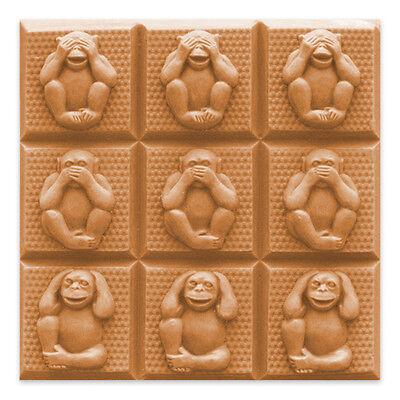 Three Wise Monkeys See Hear Speak No Evil Melt Pour Cold Process PVC Milky Way
