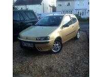 1.2 petrol manual fiat punto sporting with mot till august only done 73000 miles