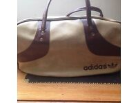 Vintage Leather Adidas Sports/Gym Bag, Rare Design, Mint Condition.