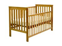Used but excellent condition 'East Coast' Cot Bed and Changing table