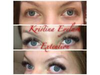 Russian volume and classic lash extensions