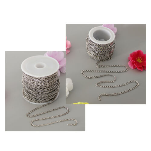 Silver Stainless Steel Cable Link Chain Spool Bulk for Jewel
