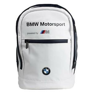 BMW Motorsports M-Power White Backpack